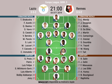 Le formazioni iniziali di Lazio-Rennes. BeSoccer
