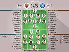 Le formazioni ufficiali di Roma-Napoli. BeSoccer