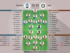 Le formazioni ufficiali di Atalanta-Inter. BeSoccer