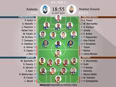 Le formazioni ufficiali di Atalanta-Shakhtar Donetsk. BeSoccer