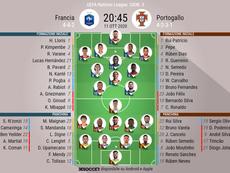 Le formazioni ufficiali di Francia-Portogallo. BeSoccer