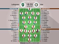 Le formazioni ufficiali di Ludogorets -Inter. BeSoccer