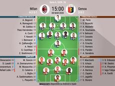 Le formazioni ufficiali di Milan-Genoa. BeSoccer