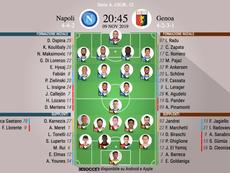 Le formazioni ufficiali di Napoli-Genoa. BeSoccer