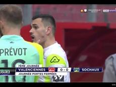 Jérôme Prior accuse un Sochalien de l'avoir mordu. Capture/beINSports