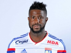 Le milieu de terrain de l'Olympique Lyonnais, Arnold Mvuemba. OL