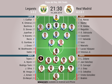 Leganes v Real Madrid- CDR R16 2nd Leg- official lineups. BESOCCER