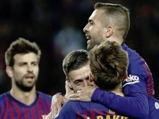 A média de idade do Barça pode ser um problema. EFE