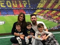 El emotivo mensaje de Antonella a Messi por el Día de Padre. Instagram/antonellarocuzzo