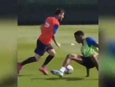 Messi em modo Champions. Twitter/SC_ESPN