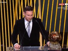 Messi è il vincitore del Pallone d'Oro 2019. Captura/Gol