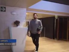 La routine de Messi avant une rencontre. Capture/FCBarcelone