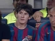 Messi made a promise to his agent. Captura/YouTube