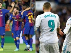 Leo Messi, Luis Suárez e Karim Benzema estão entre os goleadores do Espanhol. EFE/AFP