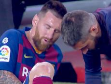 Messi got injured. Screenshot/ElGolazodeGOL