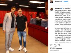 Messi cargó contra el Barça por la salida de Suárez. Instagram/LeoMessi