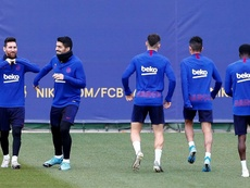 O time do Barça está completo para o próximo jogo. EFE