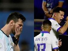 Messi y Coutinho, vidas cruzadas. AFP