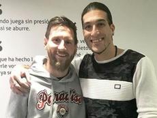 El argentino y el ex portero se volvieron a ver a las caras. Instragram/Pinto