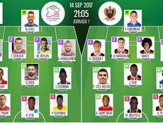 Les compos officielles du match d'Europa League entre Zulte-Waregem et Nice. BeSoccer