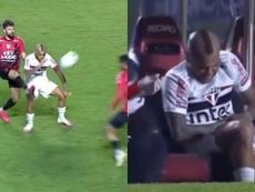 Alves da el susto y Corinthians salva los muebles. Captura/Globoesporte