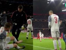 Henderson a été remplacé par Fabinho. Capture/Movistar+