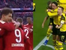 Bayern et Dortmund ont marqué presque au même moment. Capture/FoxSports