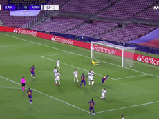 Messi marcó en la vuelta de la Champions. Captura/MovistarLigadeCampeones