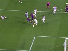 Messi segna la rete del raddoppio. MovistarLigadeCampeones