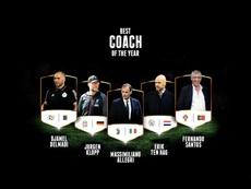 Les entraîneurs nominés pour les Globe Soccer Awards 2019.  Twitter/Globe_Soccer