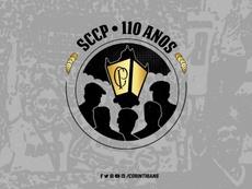 Logo comemorativo pelos 110 anos do Corinthians. Twitter @Corinthians