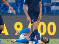 Alarma en Nápoles: Insigne, lesionado a siete días de la Champions. Captura/Vamos