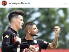 Lorenzo Insigne scrive una lettera a Callejon. InstagramLorinsigneofficial