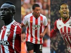 I 9 ex Southampton in finale di Champions. Montaje/AFP