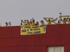 Los hinchas cadistas viajaron a Extremadura. AFP