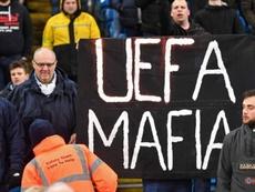 La UEFA teme represalias a sus trabajadores por parte de los aficionados del City. AFP