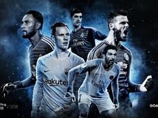 Estes são os 5 goleiros finalistas do FIFPro. FIFPro