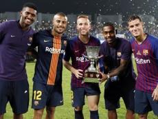 Les quatre joueurs sont aujourd'hui inséparables. FCBarcelone