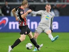 El Eintracht rescató un punto casi sobre la bocina. Twitter/HerthaBSC