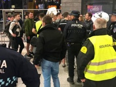 Los 'hooligans' fueron desalojados por embriaguez. PolicíaAlbacete