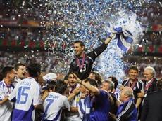 Para Fyssas, el Atlético actual es como la Grecia que ganó la Eurocopa. AFP