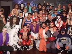La loca fiesta de disfraces de Vélez. Instagram/lucasRobertone