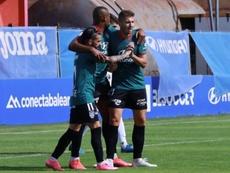 Vinicius Tanque se estrenó con el Atlético Baleares. Twitter/CDAtléticoBaleares