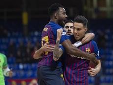 Barça y Levante han ganado cada uno un partido. Twitter/FCBfutbolsala
