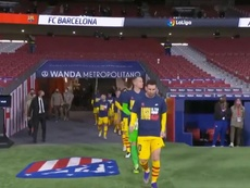 The Barca players showed support for Ansu Fati. Screenshot/BarcaTV