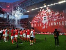 El Benfica tiene preparado un nuevo contrato para una perla del filial. Twitter/SLBenfica