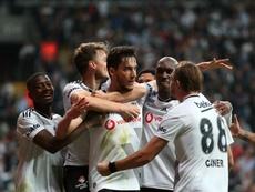 Umut Nayir decidió el derbi de Estambul. Twitter/Besiktas