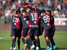 El Cagliari, la revelación de la Serie A. Twitter/CagliariCalcio