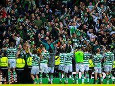 Edouard abrió la lata en el Old Firm. Twitter/CelticFC