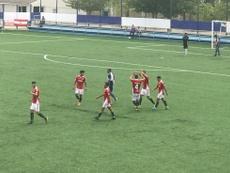 Pedro marcó los dos goles del partido. Twitter/NasticTarragona